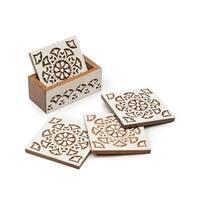 Handmade Aashiyana Coasters - Set of 4 (India)