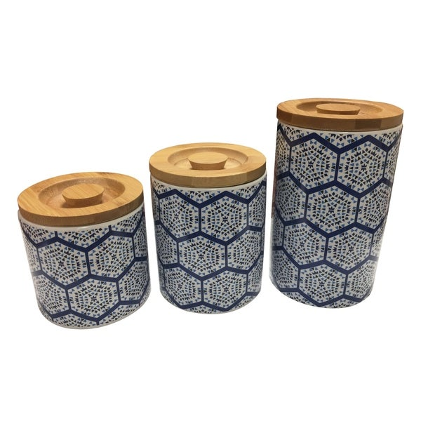Le Chef Ceramic Storage Canisters set of 3. Opens flyout.
