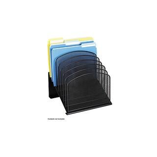 Safco Onyx Mesh Desk Organizer, 8 Slanted Sections, Black-BL