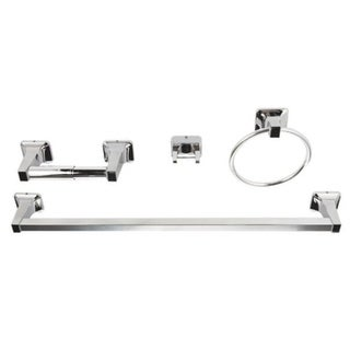 Franklin Brass Futura Polished Chrome Towel Bar 4 Piece Set 25-9/16 in. L Chrome