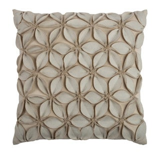 Rizzy Home Decorative Throw Pillow in Cream (As Is Item)