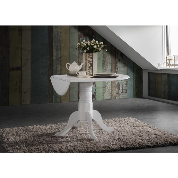 42 Inch Round Dual Drop Leaf Pedestal Table