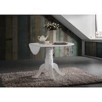 42-inch Round Dual Drop Leaf Pedestal Table