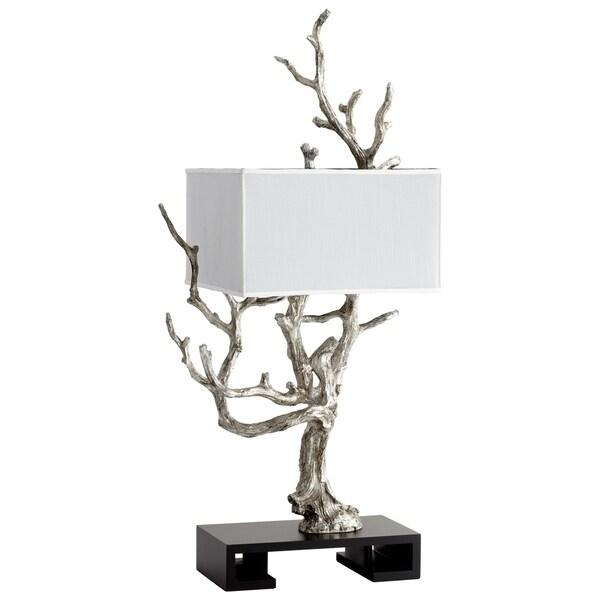 Cyan Design Mesquite Mystic Silver Finish Resin 4-light Table Lamp