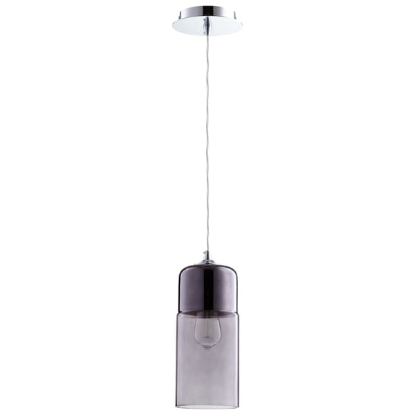 Cyan Design Berdan Chrome and Smoke Glass Pendant Light