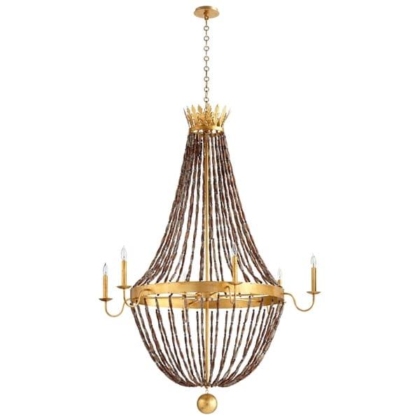 Cyan Design Alessia Golden Trim Wrought Iron 6-light Chandelier