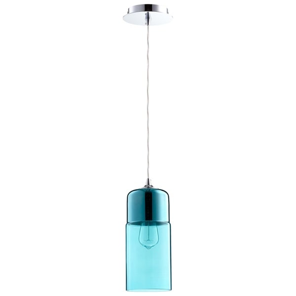 Cyan Design Berdan Blue Glass Pendant