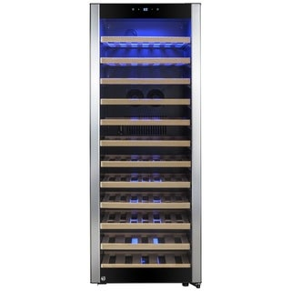 AKDY WC0044 80 Bottles Single Zone Compressor Freestanding Wine Cooler Refrigerator Chiller