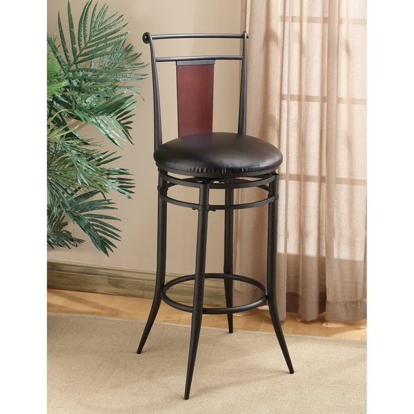 Hillsdale Midtown Swivel Wood Back Counter Stool