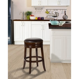 Copper Grove Ouen Backless Swivel Counter Stool