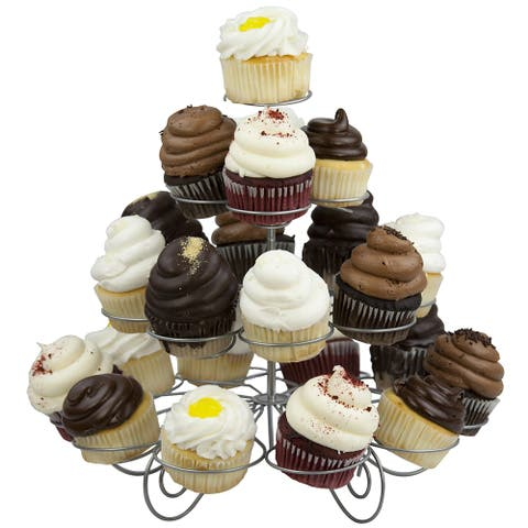 Home Basics Silver 3-tier Cupcakes Holder