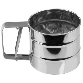 Home Basics Silver Stainless Steel Flour Sifter
