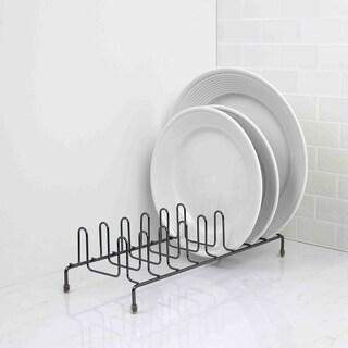 Home Basics Black Onyx Steel Plate Rack