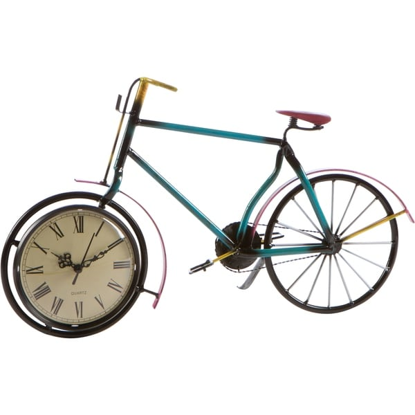 """17"""" Bicycle Clock - Metal Retro Style by Trademark Innovations"""