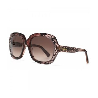 Valentino V678S Lace Effect Sunglasses Bordeaux Faded Lace - Burgundy