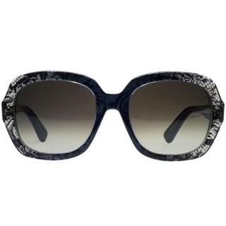 Valentino V678S Lace Effect Sunglasses Grey Faded Lace - Black