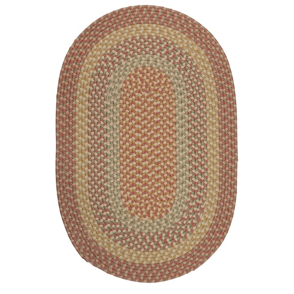 Colonial Mills New Age Farmhouse Harvest Rust/Natural/Multicolor Braided Area Rug (8' x10')