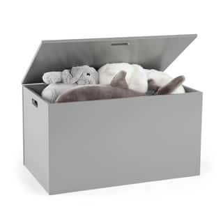Hinged Toy Storage Chest Grey