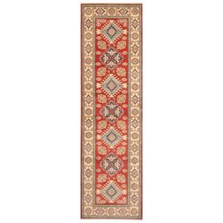 Handmade One-of-a-Kind Kazak Wool Runner (Afghanistan) - 2'6 x 9'9