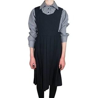 Girls School Uniform Pleated Poly Jumper