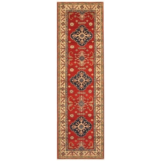 Handmade Kazak Wool Runner (Afghanistan) - 2'9 x 9'