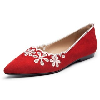 Rosewand Women's 'Leon' Embroidery Loafers