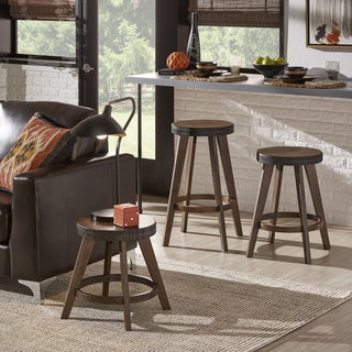 Lane Rustic Walnut Finish Stools (Set of 2) by iNSPIRE Q Classic (3 options available)