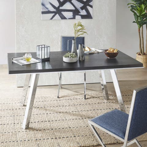 "INK+IVY Obsidian Dark Grey Rectangle Dining Table - 68""w x 36.75""d x 30.5""h"