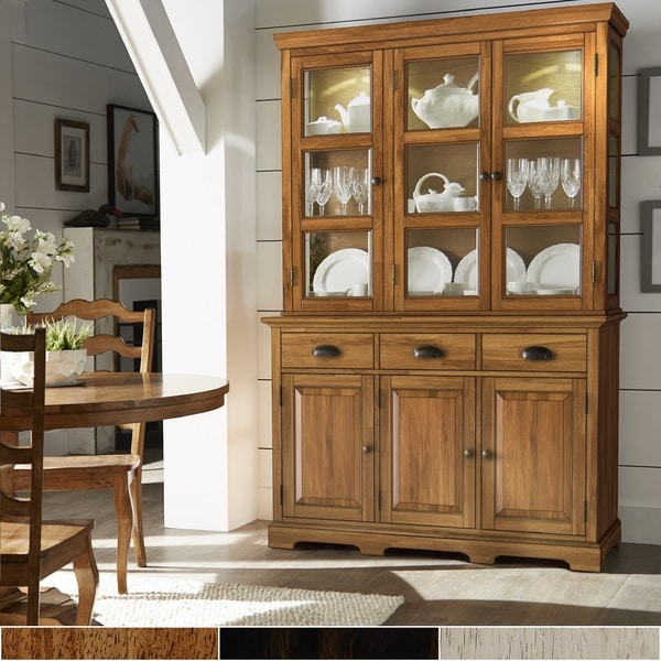 Eleanor Two-Tone Wood Buffet Server and Hutch by iNSPIRE Q Classic