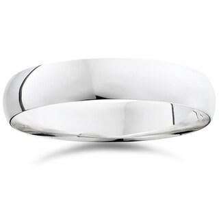 Bliss 950 Platinum Plain High Polished Ring 5mm Dome Wedding Band - White