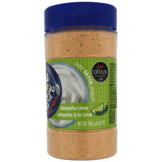 Altius Just Add Yogurt Jalapeno Lime Dip, Mix With Sour Cream, Regular or Non-Greek Yogurt 6.52 oz x 1