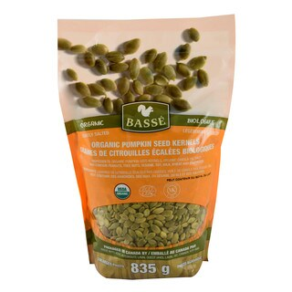 Basse Organic Pumpkin Seeds Kernels Nutritious, Salted, Wholesome, Superfood Snack 29.45 oz x 1