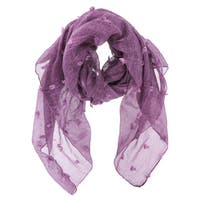 LA77 Solid Color Detailed Stich on Front Scarf