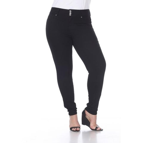 White Mark Women's Plus Size Super Stretch Denim