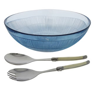 French Home 3 Piece Laguiole Salad Set - Sapphire Blue