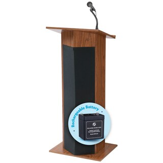 Floor Lectern - Power Plus And Rechargeable Battery