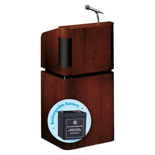 Veneer Contemporary Table Lectern With Sound, Base And Rechargeable Battery