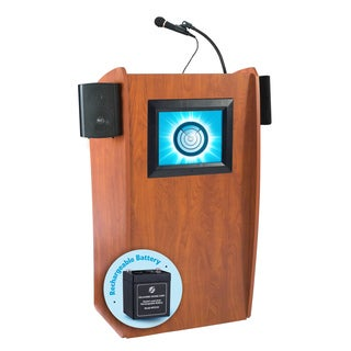 The Vision: Floor Lectern W/ Sound, Digital Display And Rechargeable Battery