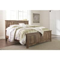 Blaneville Burnished Brown Panel Footboard