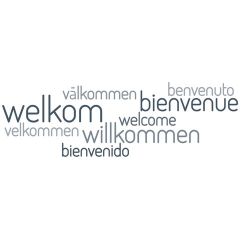 """Paperflow Office Deco Wall Transfers, Welcome 26"""" x 8"""""""