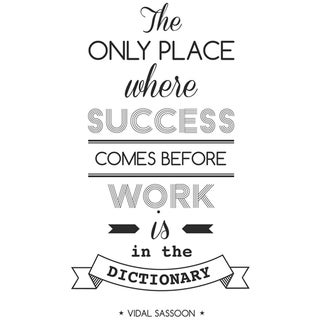 """Paperflow Office Deco Wall Transfers, The only place where success...15"""" x 26"""""""