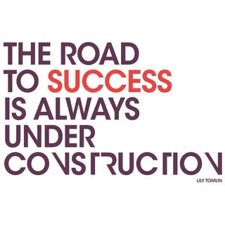 "Paperflow Office Deco Wall Transfers, The road to success 26"" x 16.5"""