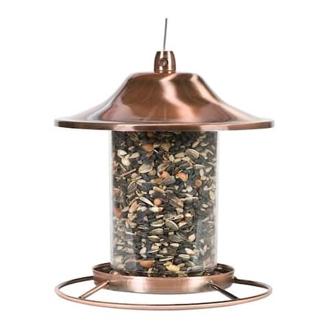 Perky-Pet Wild Bird 2 lb. Copper Panorama Seed Feeder