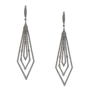 Kabella 18k Gold 2.35ct TDW Diamond Geometric Drop Earrings (H-I, I1) - White