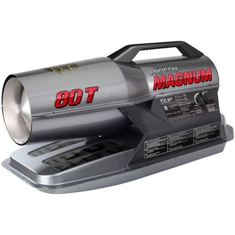 ProCom Kerosene Forced Air Heater - 80,000 BTU, Multifuel PCK80T