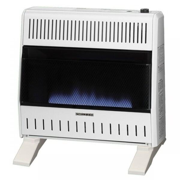 ProCom Dual Fuel Ventless Blue Flame Heater - 30,000 BTU, Model# MNSD300TBA-BB