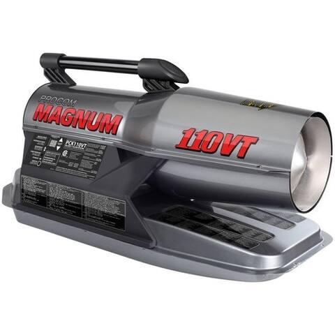ProCom Kerosene Forced Air Heater - 80,000-110,000 BTU, Multifuel, Model# PCK110VT