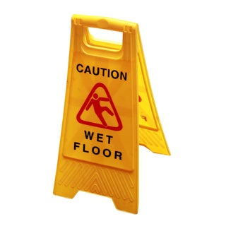 """Wet Floor Free Standing Sign Yellow 24"""" x 12"""""""