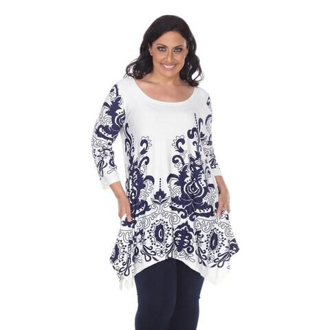 White Mark Women's Plus Size 'Yanette' Tunic Top