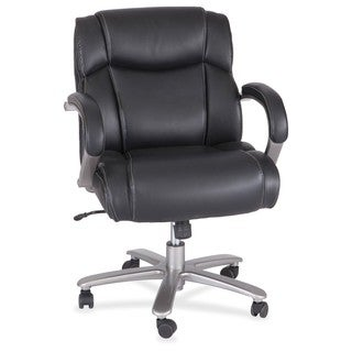 Safco Heavy Duty Big and Tall Mid Back Task Chair - 350 Lb. Capacity, Black